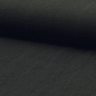 Leinen Stonewashed schwarz