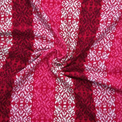 Bw-Jacquard Röschen Farbablauf rot