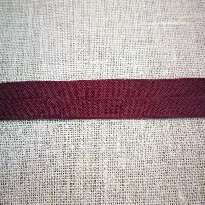 Stretchband Grätenmuster bordeaux 16 mm