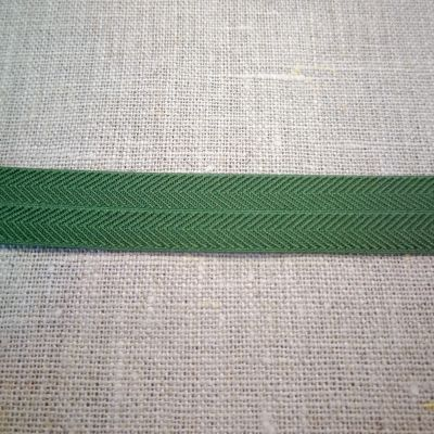Stretchband Grätenmuster oliv  16 mm