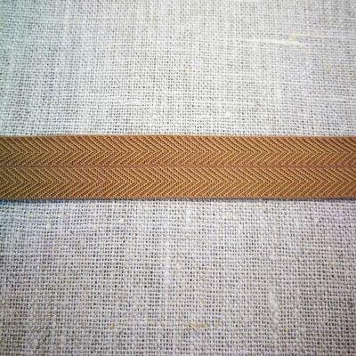 Stretchband Grätenmuster senf 16 mm