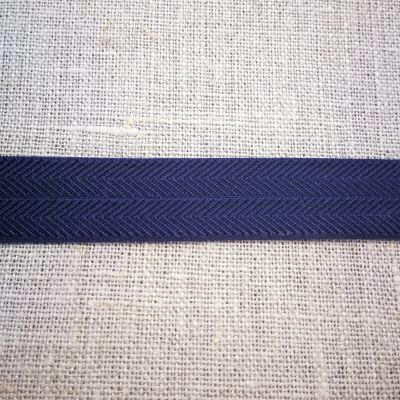 Stretchband Grätenmuster dunkelblau 16 mm