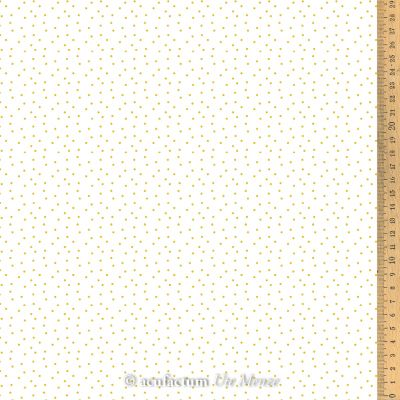 Baumwollstoff Tupfen weiß- gelb  145 cm breit