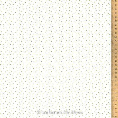 Baumwollstoff Tupfen weiß-grün 145 cm breit