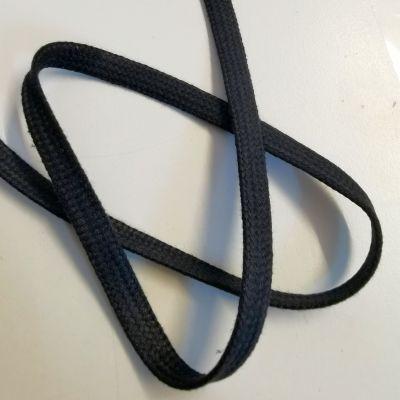 Tresse/Flachkordel 10mm breit schwarz 100% Cotton
