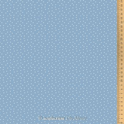 Baumwollstoff Tupfen graublau-weiß  150 cm breit