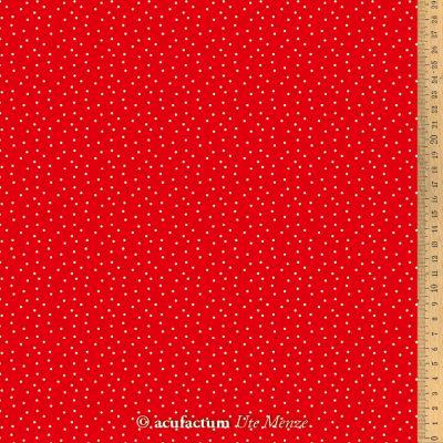 Baumwollstoff Tupfen rot-weiß   145 cm breit