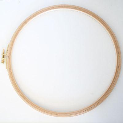 Holzstickring natur Durchmesser 27,5 cm/Höhe  24 mm