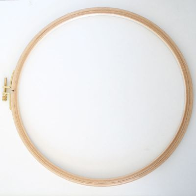 Holzstickring natur Durchmesser 30,5 cm/Höhe  24 mm