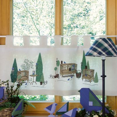 Einzelmuster Gartenromantik Gardine