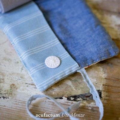 Leinen meliert  jeansblau