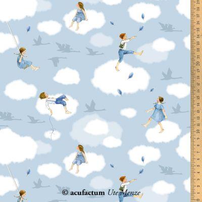 Baumwollstoff Wolkenkinder  145 cm breit