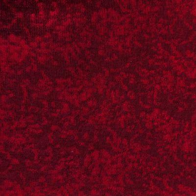 Wolljacquard all over Blüten rot
