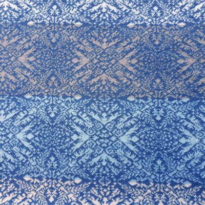 Jacquardstrick Farbablauf Sterne blau