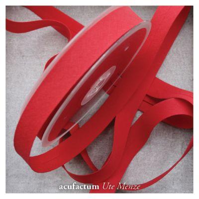 Schrägband uni rot 20 mm breit