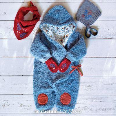 Teddy-Plüsch graublau 150 cm breit