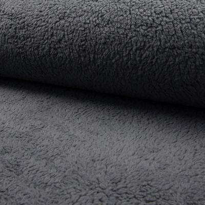 Teddy-Plüsch grau 150 cm breit