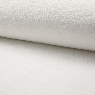 Teddy-Plüsch weiß 150 cm breit