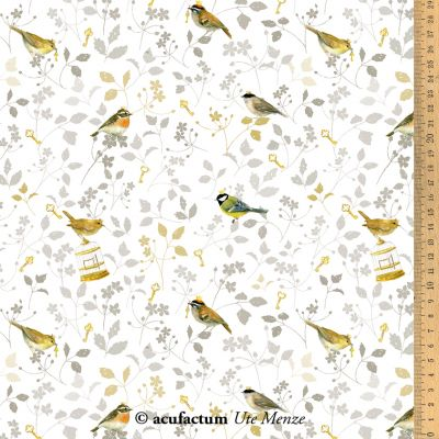 Baumwollstoff Vogelprinzen 145 cm breit