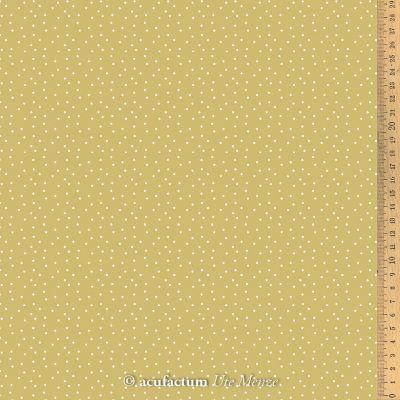 BW-Stoff Tupfen ocker-weiß 145cm breit
