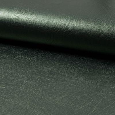 Kunstleder elastisch - grün metallic