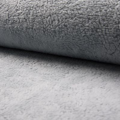 Teddy-Plüsch dunkel hellgrau 150 cm breit