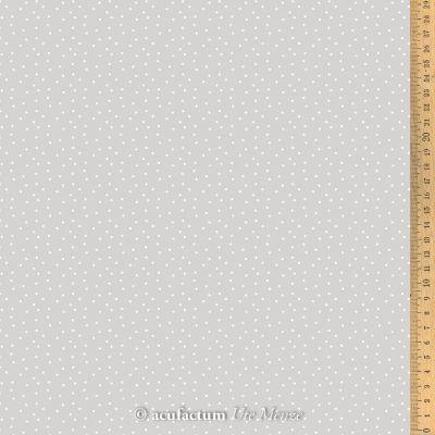BW-Stoff Tupfen hellgrau-weiß