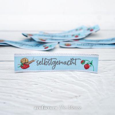 Webetikett Erdbeerzeit selbstgemacht