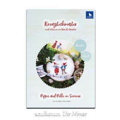 Kreuzstichmuster Pippa & Pelle im Sommer