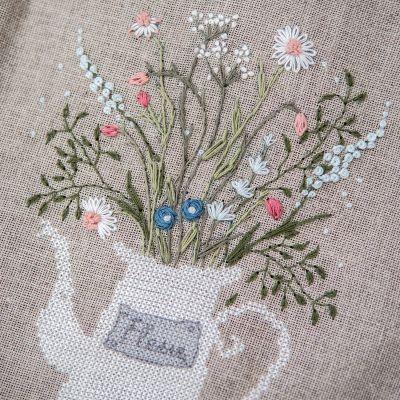 Kombi-Stickdatei Blütenkanne