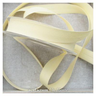 Schrägband uni hellgelb 20 mm breit