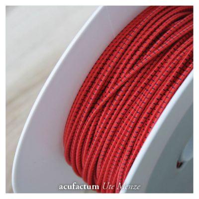 Gummikordel zweifarbig rot