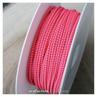 Gummikordel zweifarbig pink