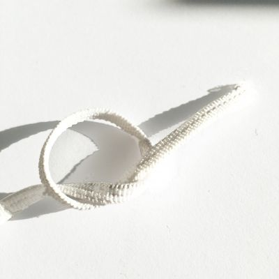 Flachkordel-Gummiband  5 mm weiß