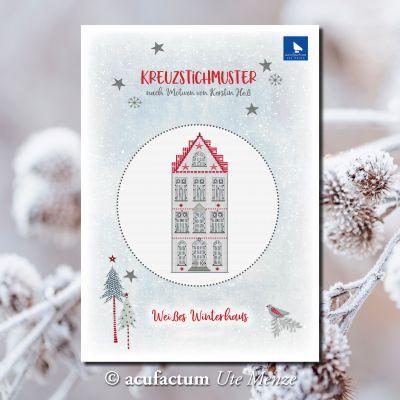 Einzelmuster Weißes Winterhaus