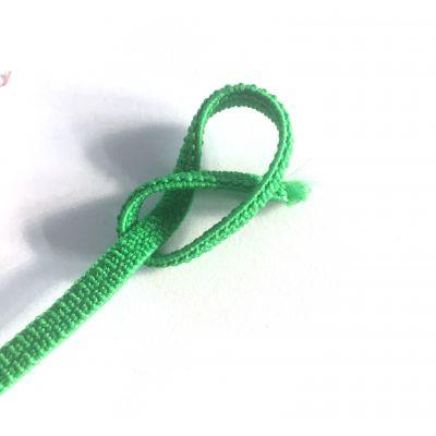 Flachkordel-Gummiband  5 mm grasgrün
