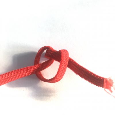Flachkordel-Gummiband  5 mm rot