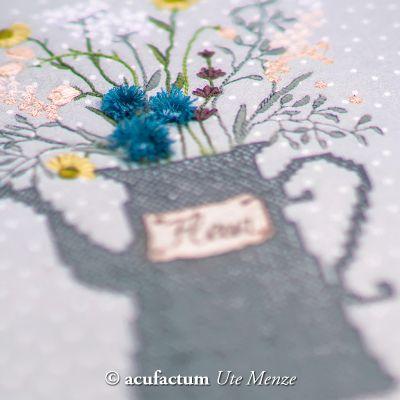 Stickdatei Blütenkanne Fleur