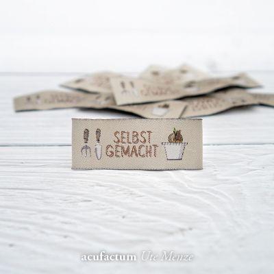 Webetikett Gartenzeit Selbstgemacht