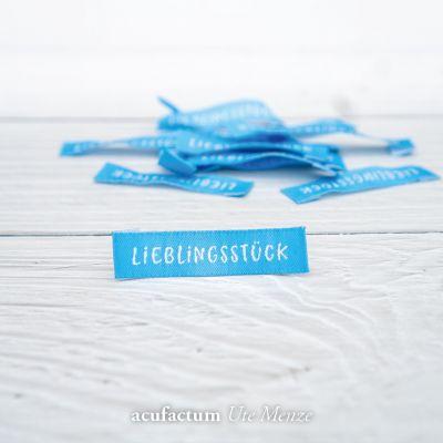 Webetikett Lieblingsstück Blau