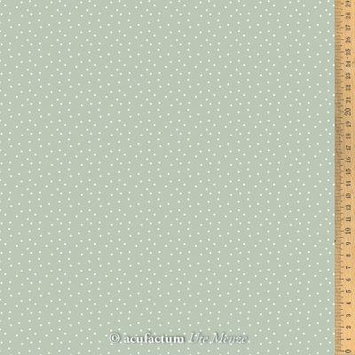 Baumwollstoff Tupfen graugrün-weiß