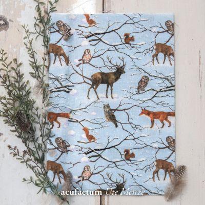 Baumwollstoff Wintertiere - 3523-822