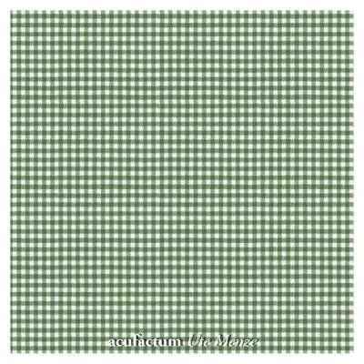 BW-Stoff dkl. grün-weiß kariert
