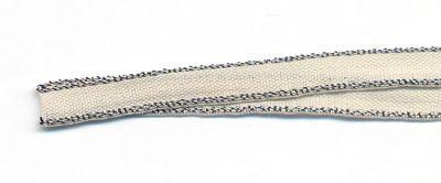 Webband Venise creme-silber 5 mm breit