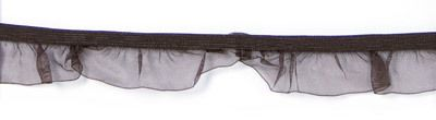 Rüschenband Organza dunkel-braun elastisch 19 mm breit