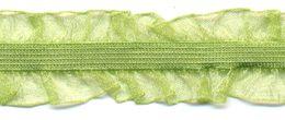 Rüschenband Frivole grün elastisch 15 mm breit
