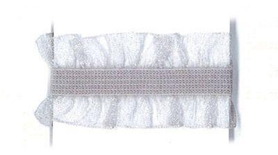 Rüschenband Frivole grau elastisch 15 mm