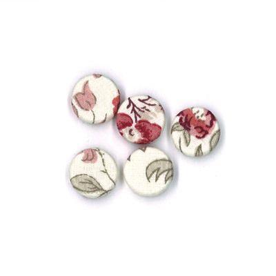 Durchstechknopf Blütenranke rot 12 mm