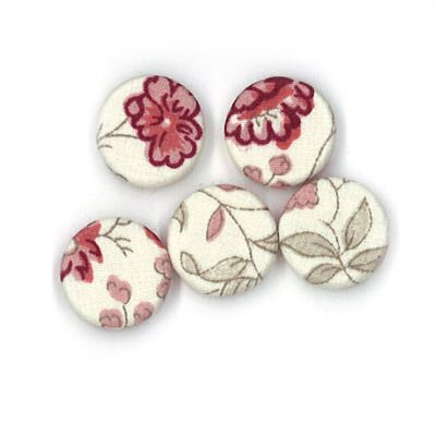 Durchstechknopf Blütenranke rot 18 mm