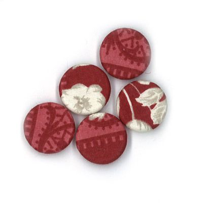 Durchstechknopf Ornament rot 18 mm